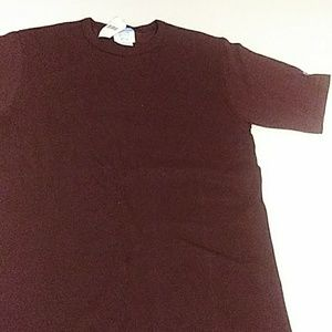 Champion T-shirt burgundy logo on sleeve medium